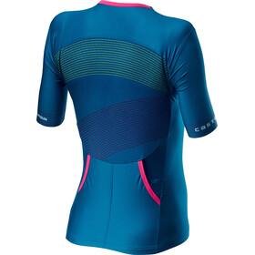 Castelli Free Speed 2 Race Koszulka rowerowa z krótkim rękawem Kobiety, multicolour/marine blue